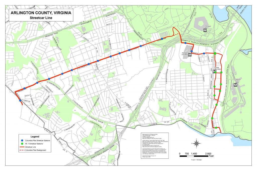 CP streetcar map