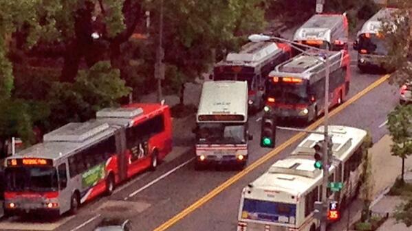 16th St bus bunch by kishan putta